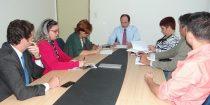 Fórum Goiano se reúne com Joaquim Mesquita para discutir progressões, data base e empréstimos consignados. (Foto: Sindsaúde-GO)